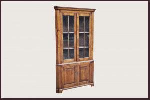 Large Oak Corner Cabinet