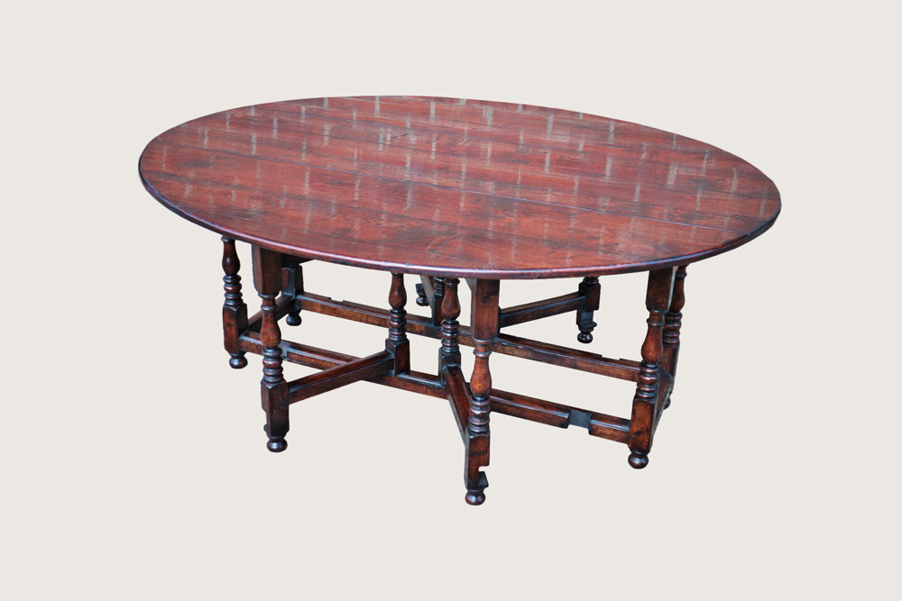 Double Gate Leg Dining Table (D106)