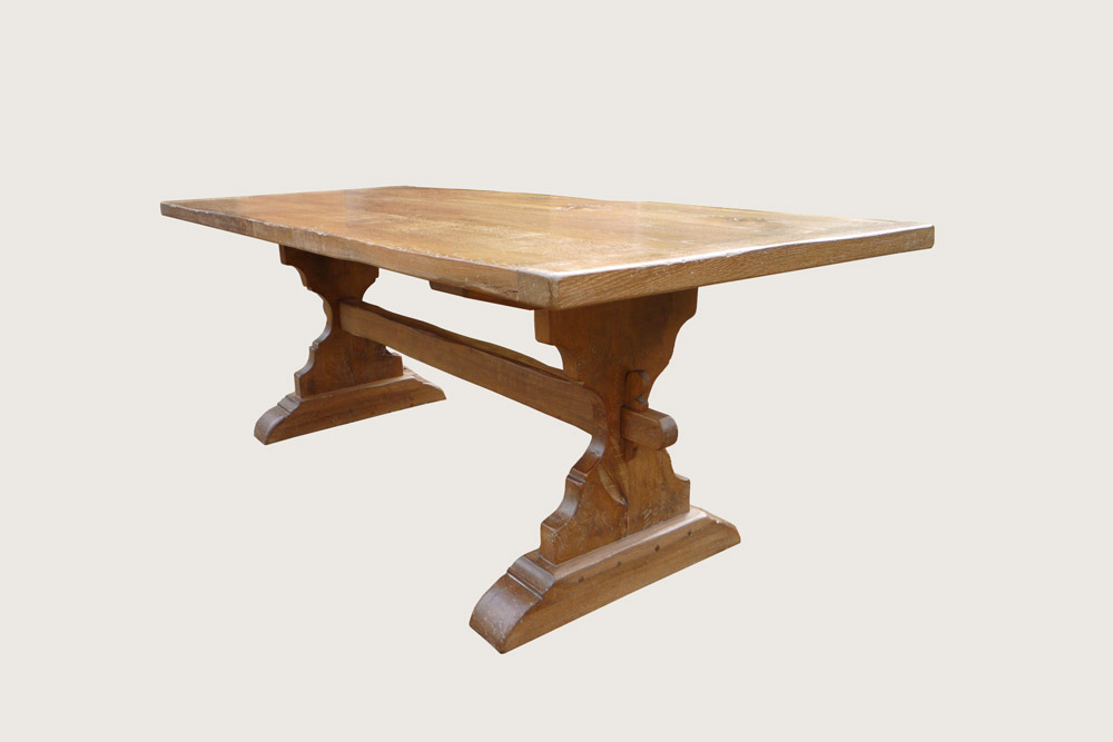 Oak Trestle Table 2